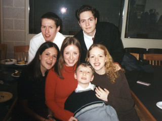 Susan's six children in 1998; photo scanned by Rich on February 13, 1998